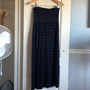 Dresses & Skirts - ✨3 for $40✨Black with blue stripes long tube dress